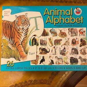 Giant Floor Puzzle Animal Alphabet